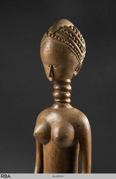 Skulptur Minsereh  Sierra Leone & Westafrika  1801/1900  StatuetteSkulptur  Höhe: 93,5 cm  Köln, Rautenstrauch-Joest-Museum rba_d005230.jpg (779×1200)