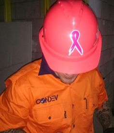 Thanks to the site manager at Condev Construction for getting involved in our Pink Hard Hats Breast Cancer Awareness fundraising!