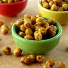 Crispy Curried Chick Peas (Garbanzo Beans) - an easy and very healthy snack!