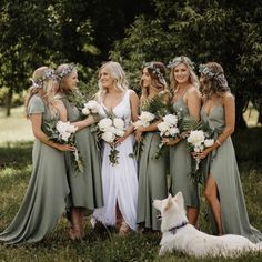 Laurel green bridesmaid dresses long You are in the right place about country wedding Here we offer you the most beautiful pictures about the country wedding you are looking for. When you examine the Laurel green bridesmaid dresses long part of the[. Bridesmaids And Groomsmen, Green Bridesmaids, Brown Groomsmen, Mismatched Groomsmen, Fall Wedding Bridesmaids, Long Bridesmaid Dresses, Bridesmaid Dress Colors, Bridesmaids In Different Dresses, Bridesmaid Pictures