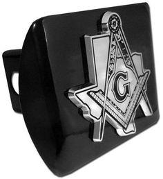 Texas Mason Square Compass Black Hitch Cover