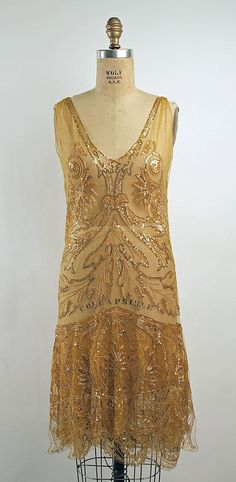 Callot Soeurs Evening Dress - 1925-6 - by Callot Soeurs  (French, active 1895-1937) - Cotton, silk, plastic, glass