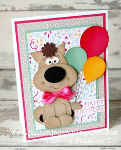 Balloon Gift by Julie Kettlewell Independent Stampin Up Demonstrator. #stampinup #juliesjapes #punchart