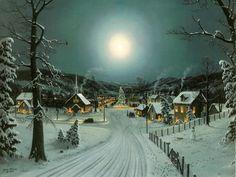 pictures of real homes at christmas with snow | papel-de-parede-de-paisagem-2