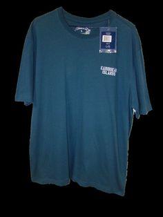 New Caribbean Joe Islands Mens Blue 100% Cotton Short Sleeve T Shirt Large L NWT #CaribbeanJoe #GraphicTee