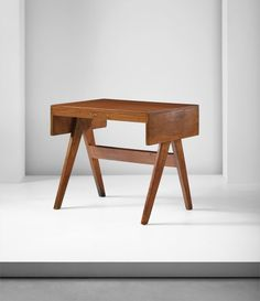 Pierre Jeanneret - 'Student' desk, model no. designed for the College of Architecture and educational buildings, Punjab University, Chandigarh, circa 1960 Education Architecture, Architecture Colleges, Student Desks, Pierre Jeanneret, Chandigarh, Joinery, Pj, Buildings, University
