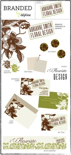 Adrianne Smith Floral Design -- Florist branding by Delphine