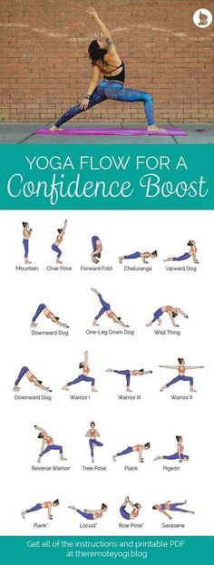 Yoga Sequence for Confidence - Free Printable PDF This yoga sequence is designed. Yoga Sequence for Confidence - Free Printable PDF This yoga sequence is designed with postures that will expand your Vinyasa Yoga, Hatha Flow Yoga, Bikram Yoga, Yoga Meditation, Vinyasa Flow Sequence, Kundalini Yoga, Ashtanga Yoga Sequence, Pilates Yoga, Iyengar Yoga