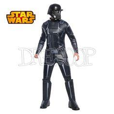 Disfraz Death Trooper negro deluxe para hombre