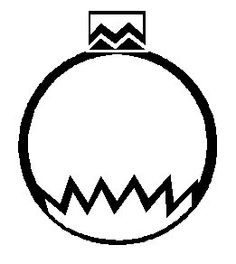 blank ornament coloring pages - photo#9
