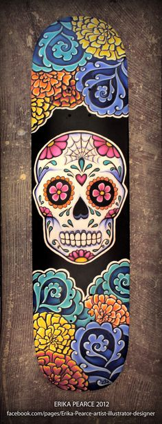 Día de los Muertos - Skate Decks by Erika Pearce, via Behance