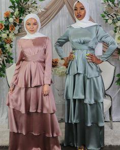 Hijab Dress, Hijab Outfit, Blouse Dress, Dubai Fashion, Muslim Fashion, Hijab Fashion Inspiration, Style Inspiration, Wedding Looks, Trendy Dresses