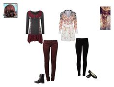 """""""Hufflepuff and Gryffindor"""" by ilovecats-886 ❤ liked on Polyvore featuring Vero Moda, Le Temps Des Cerises and Charlotte Russe"""