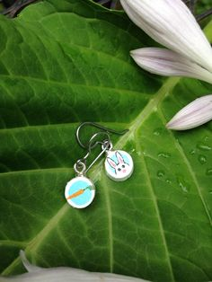 Somebunny Loves You earrings by quarkcorks on Etsy
