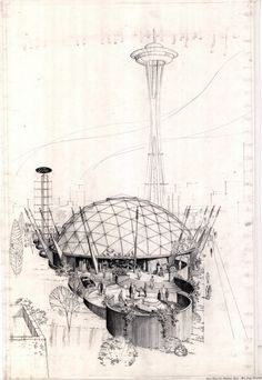 Seattle Century 21 exposition - Ford pavilion geodesic dome