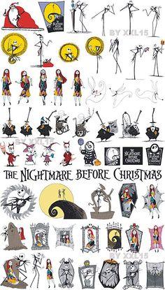 Nightmare Before Christmas Vector Clip Art