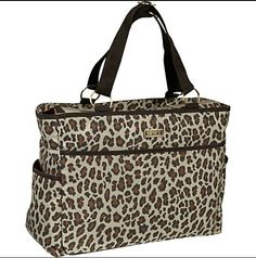 Cheetah Print Diaper Bag