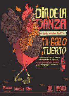 Afiche Día de la Danza. Diseño/Ilustración: Raúl Díaz.Bogotá, 2015.