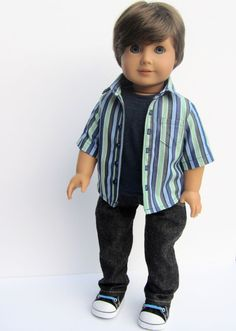 MINIPPAREL 18 INCH BOY DOLL CLOTHING fits AMERICAN GIRL DOLLS #ClothingShoes