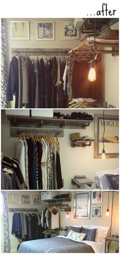 DIY: Industrial Open Closet via Labeled Girl | The Blog