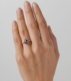 "Black diamond perfection. We call it ""The Bellini Ring"" not only because it simply calls for a toast, but it is the jewelry equivalent of sparkling deliciousness!"
