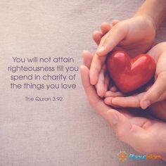 The quran: Surah Ali-'Imran/verse 92.