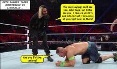 lol seth is hilars Roman Reigns Shirtless, Wwe Roman Reigns, Wrestling Memes, Watch Wrestling, Wwe Funny, Funny Memes, The Shield Wwe, Geek Humor, Seth Rollins