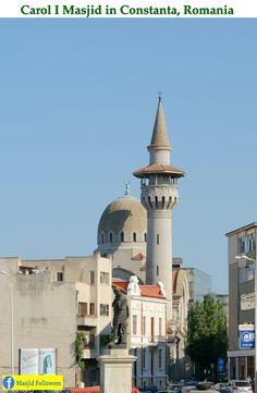 Carol Masjid in Constanta Romania Mosque Architecture, Art And Architecture, Islamic World, Islamic Art, Constanta Romania, Turkey Europe, Beautiful Mosques, Madina, World's Most Beautiful