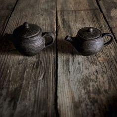黒錫茶壺(大200ccと小150cc)  #大浦裕記#器#うつわ#茶#茶壺#中国茶 #ceramics #pottery  #chinesetea #tea