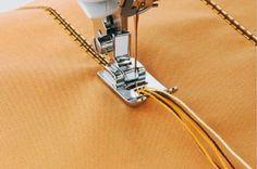 Videotutorial: los prensatelas para añadir hilos o cordones decorativos - yo…