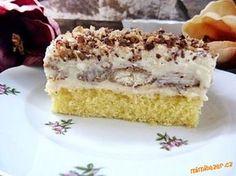 NEBESKÉ KOSTKY....(NEBE V HUBĚ :-)))...hrozí těžká závislost :-) Cake Recipes, Dessert Recipes, Vanilla Cake, Tiramisu, Ethnic Recipes, Hampers, Diet, Bakken, Easy Cake Recipes