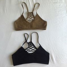 NWOT Free People Bralettes 2 xs/s bralettes from Free People. Can be sold separately as well ($10/bra). They're super cute but they are TINY, even compared to other FP bras--I have a bunch of lace ones in a size small but these did not fit me at all (32DD). Best for small busts. Super super cute though! Fun cutout back detailing. Perfect for festival season. Free People Intimates & Sleepwear Bras