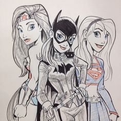 Wonder Woman, Batgirl and Supergirl by Tom Bancroft