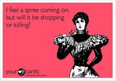 Shopping is most definately my favorite de-stressing activity.