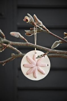 Scaapi Natural #Christmas #decorations - birch wood and wool  photography and styling by Paulina Arcklin
