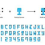 Braille Neue: A Universal Typeface by Kosuke Takahashi That Combines Braille and Visible Characters