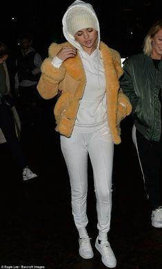 Selena Gomez At Church March 14 2018 Calf Socks Dolman Top And