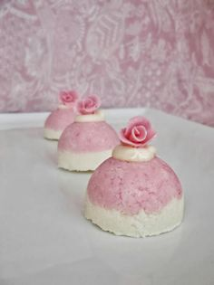 Lick The Spoon: Coconut Ice Domes with Roses