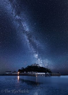thk:  The Milky Way over St Michael's Mount -  Cornwall, England.