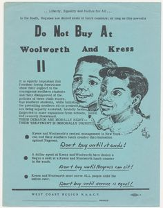 "CALIFORNIA COLLECTION: NAACP – ""Do Not Buy At Woolworth and Kress"" (1960) « THESE AMERICANS 