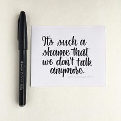 "Today's prompt for #stupidcupidlettering is ""We Don't Talk Anymore"" by Charlie Puth. . We (me, @maria.eliza.lettering and @loveleighloops) are hosting this challenge and have created our own IG account together through @thepenpals so we can manage our features better. . ▪️ Join #stupidcupidlettering any time ▪️ Choose a part of the lyrics of the song for the day and letter them, doodle them, calligraphy them with your choice of medium."