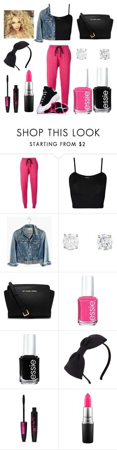"""Jordans On Fleek"" by aiyannab259 ❤ liked on Polyvore featuring Markus Lupfer, WearAll, Madewell, Michael Kors, Essie, Kate Spade and MAC Cosmetics"
