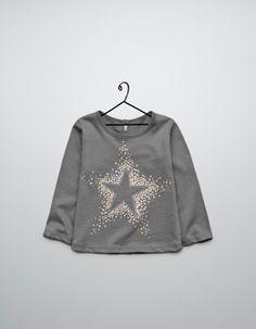 star-print t-shirt