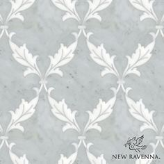 Tamara, a natural stone waterjet mosaic shown in Carrara and Thassos, is part of the Silk Road Collection by Sara Baldwin for New Ravenna Mosaics. <br /> <br /> Take the next step: prices, samples and design help, http://www.newravenna.com/showrooms/