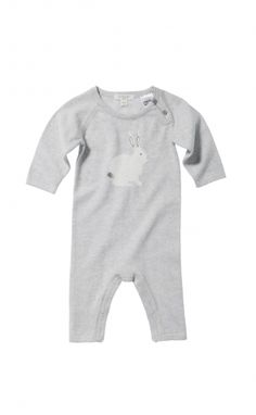 Knitted Growsuit - Purebaby. Simple, neutral, small image.