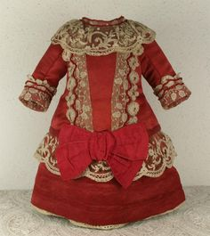 MARVELOUS Antique French Silk Satin Bebe Couturier Costume for JUMEAU, BRU, STEINER other FRENCH BEBE