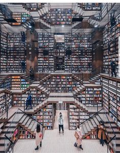 [building] Zhongshuge Bookstore in Chongqing, China : architecture Beautiful Library, Dream Library, Library Books, Photo Library, Library Ideas, Reading Library, Read Books, Library Architecture, Architecture Design