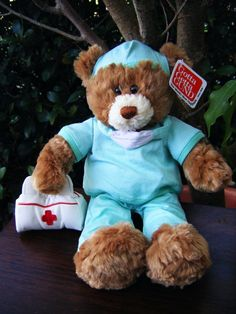 "Gund 11"" Nurse B. Well Teddy Bear, NWT (Retired)    Huggable, adorable, and oh so loveable Gund bear can put a smile on any child's face."