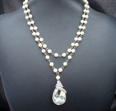 Wedding Pearl NecklaceIvory or White PearlsBridal by DivineJewel