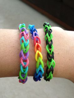 Rainbow Rubber Band Bracelet Single design by DuctTapeNMore, $1.50